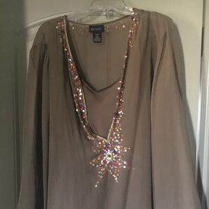 Gorgeous sparkly Lane Bryant blouse